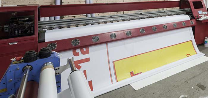 Large red Printing machine
